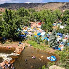 A photo of outdoor water activities in Lyons, Colorado.