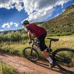 Mountain Biking in Lyons, Colorado.