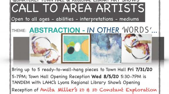Town Hall & Library Art Show: Abstraction - In Other 'Words'