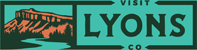 Visit Lyons Colorado logo, reads: Visit Lyons Co
